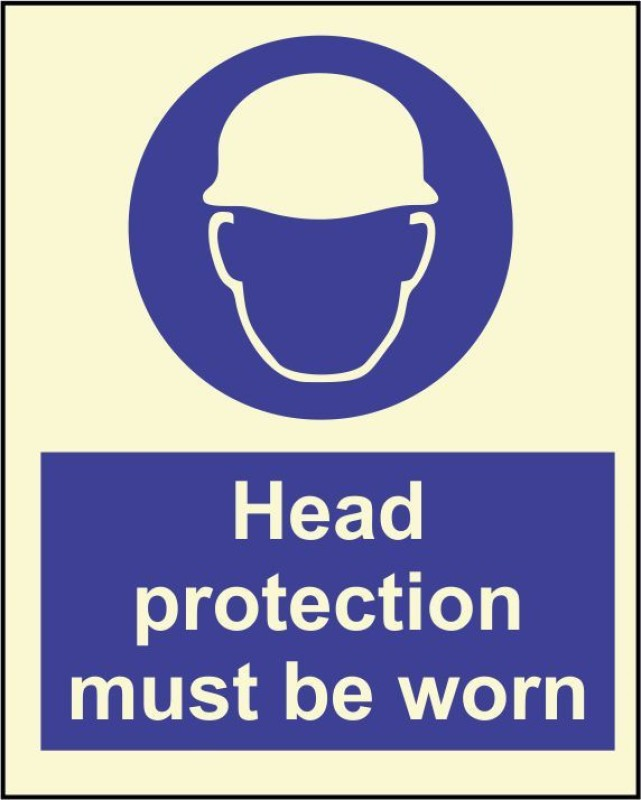 BRANDSHELL Head Protection must be worn Emergency Sign