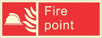 BRANDSHELL Fire Point Emergency Sign