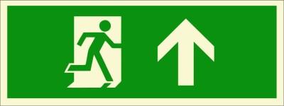BRANDSHELL Emergency Exit Upwards Emergency Sign