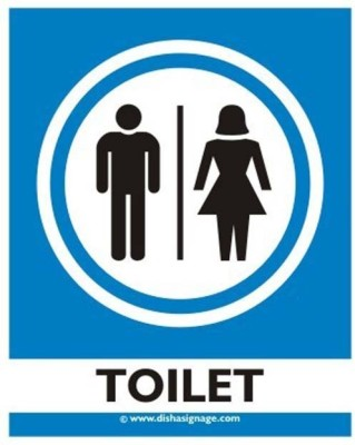 dishasignage Toilet Emergency Sign