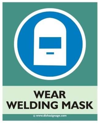 Dishasignage Wear-Welding-Mask Emergency Sign(Reflective Sign)