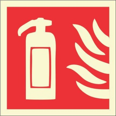 BRANDSHELL Fire Extingusher Emergency Sign
