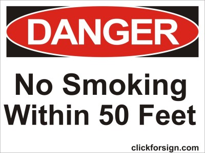 clickforsign No smoking With in 50 Feet OSHA Safety Sign Board(8x6 inch) Emergency Sign
