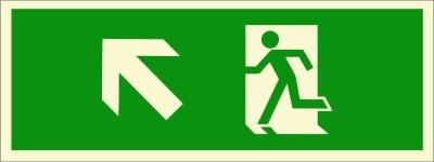 BRANDSHELL Emergency Exit Up Left Side Emergency Sign