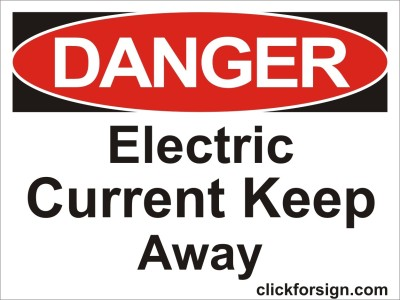 clickforsign Electric current keep away OSHA Safety Sign Board (8X6 Inch) Emergency Sign