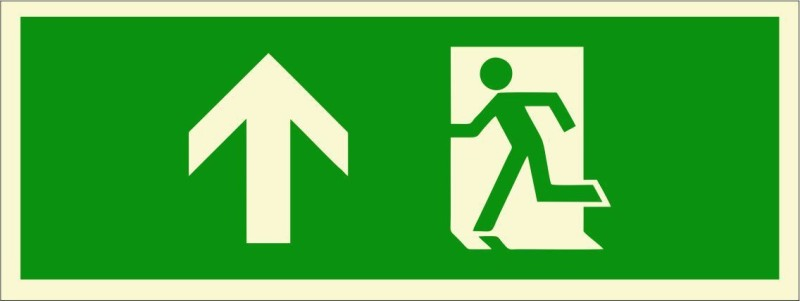 BRANDSHELL Emergency Exit Upwards Emergency Sign