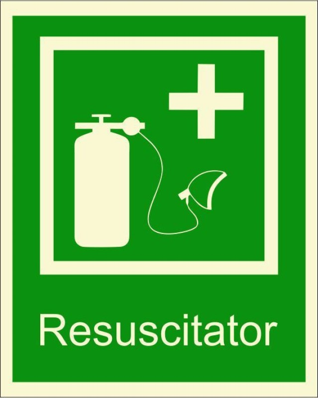 BRANDSHELL Resuscitator Emergency Sign