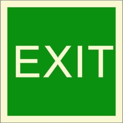 BRANDSHELL EXIT Emergency Sign