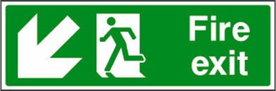 Riddhi Siddhi Industries Fire Exit Emergency Sign