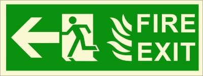 BRANDSHELL Fire Exit Left Side Emergency Sign