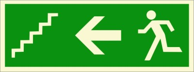 BRANDSHELL Emergency Exit Staircase Left Side Emergency Sign