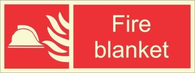 BRANDSHELL Fire Blanket Emergency Sign