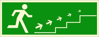 BRANDSHELL Emergency Exit Staircase Upwards Emergency Sign
