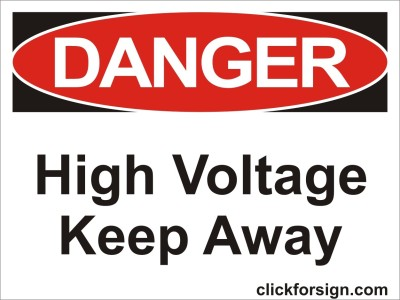 clickforsign High Voltage Keep Away OSHA Safety Sign Board(8x6 inch) Emergency Sign