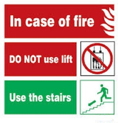 Riddhi Siddhi Industries In case of fire Use staircase Emergency Sign