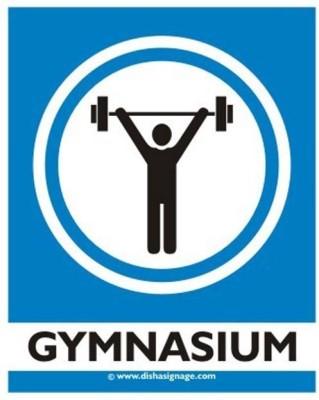 dishasignage Gymnasium Emergency Sign