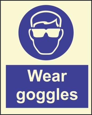 BRANDSHELL Wear Goggles Emergency Sign