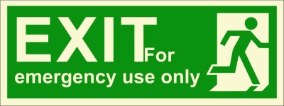 BRANDSHELL EXIT For Emergency Use Only Emergency Sign
