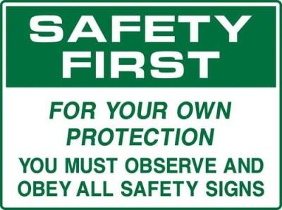 Safe Pro Safety Emergency Sign