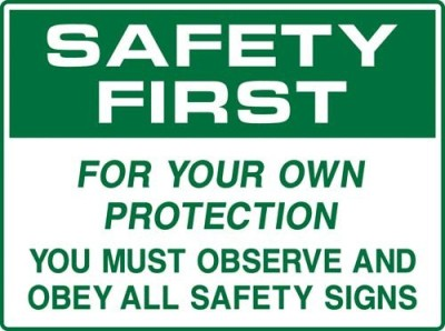 Safe Pro Safety Emergency Sign(Reflective Sign)