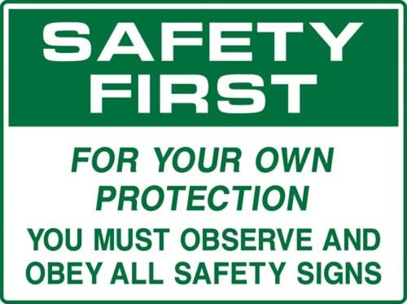 Safe Pro Safety Emergency Sign(Reflective Sign)