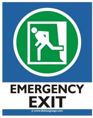dishasignage Emergency Exit Left Emergency Sign
