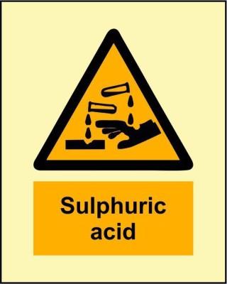 BRANDSHELL Sulphuric Acid Emergency Sign
