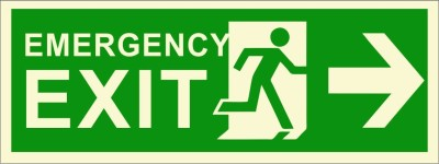 BRANDSHELL Emergency Exit Right Side Emergency Sign