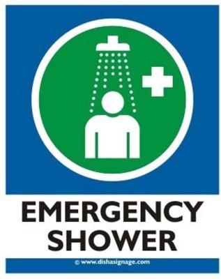 Dishasignage Emergency Shower Emergency Sign