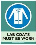 Dishasignage Lab-Coats-Must-Be-Worn Emer...