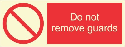 BRANDSHELL Do Not Remove Guards Emergency Sign
