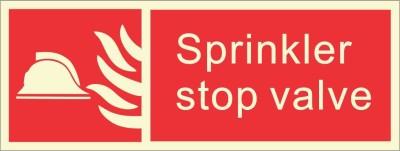 BRANDSHELL Sprinkler Stop Valve Emergency Sign