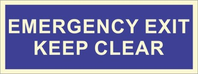 BRANDSHELL Emergency Exit keep Clear Emergency Sign