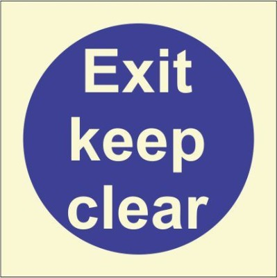 BRANDSHELL EXIT Keep Clear Emergency Sign