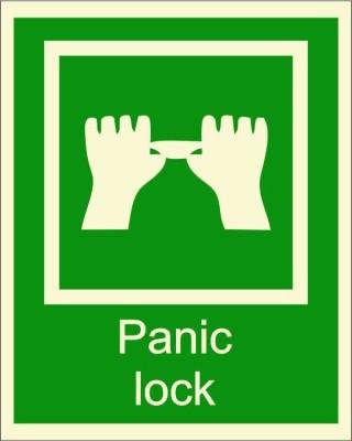BRANDSHELL Panic Lock Emergency Sign