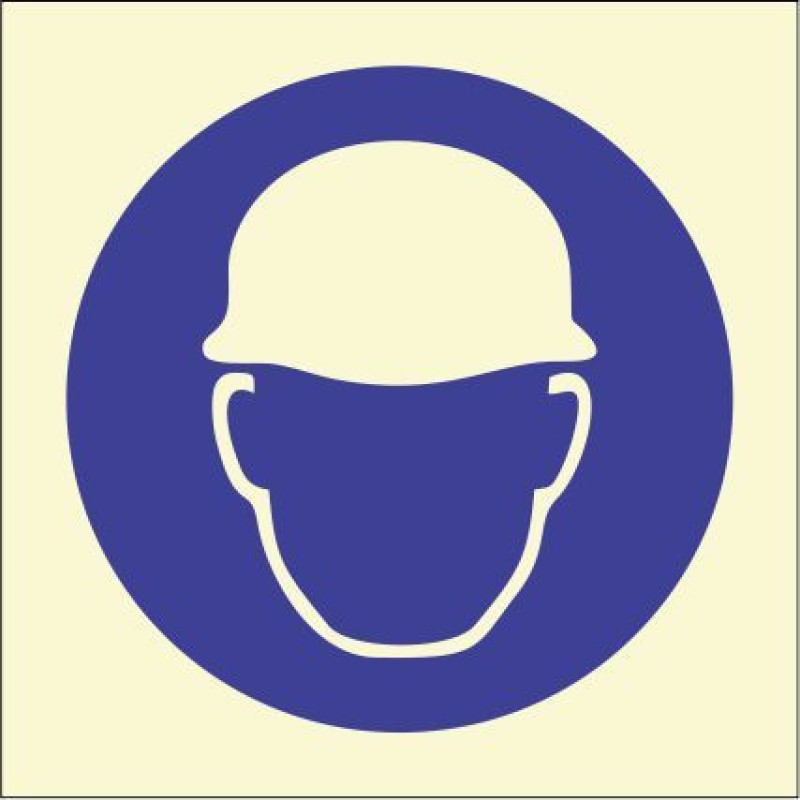 BRANDSHELL Wear Helmet Emergency Sign