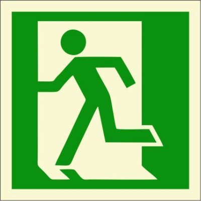 BRANDSHELL Emergency Exit Left Side Emergency Sign