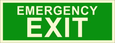 BRANDSHELL Emergency Exit Emergency Sign