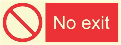 BRANDSHELL No Exit Emergency Sign