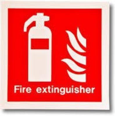 Safe Pro Fire Extinguisher Emergency Sign