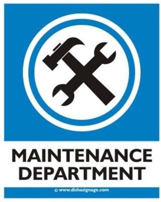 dishasignage Maintenance-Department Emergency Sign