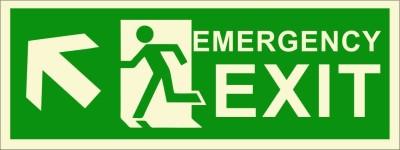 BRANDSHELL Emergency Exit Upper Left Side Emergency Sign