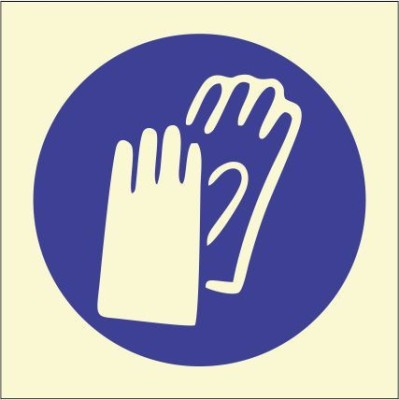 BRANDSHELL Wearing Protective Gloves Emergency Sign