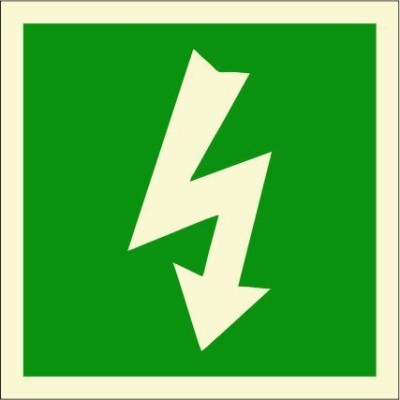 BRANDSHELL Electrical Equipment Emergency Sign