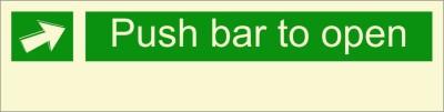 BRANDSHELL Push Bar to Open Emergency Sign