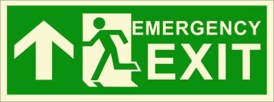 BRANDSHELL Emergency Exit Uppwards Emergency Sign