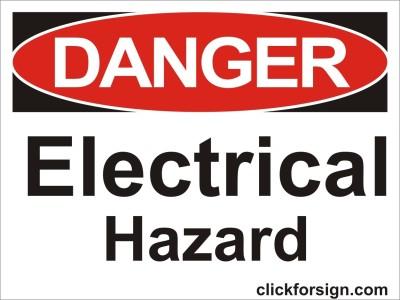 clickforsign Electrical hazard OSHA Safety Sign Self Adhesive Vinyl Sticker (8X6 Inch) Emergency Sign