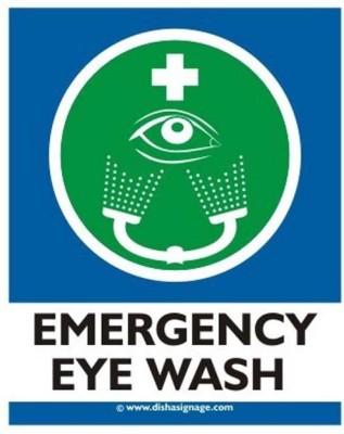 Dishasignage Emergency Eye Wash Emergency Sign