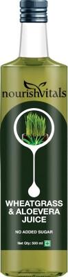 NourishVitals WheatGrass Juice With AloeVera Juice - No Added Sugar Sports Drink(500 ml Pack of 1)