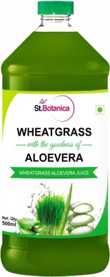 St. Botanica Wheatgrass Juice With Aloevera Juice Sports Drink(500 ml Pack of 1)